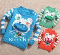 Wholesale Dimensional Pocket Bear Baby Sweater Kid Sweater Boy s Girl s Sweater Children Wear Sweater
