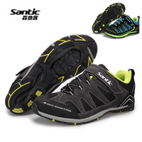 Pro Cycling Shoes Wholesale-Santic Mens Zapatos Mtb bicicletas autoblocante 2 colores transpirable Sport Casual Zapatos bicicleta de montaña