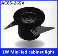 Wholesale High quality Mini led spot downlight W led cabinet light AC85 V led lamp light include led driver