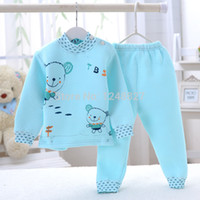 baby buckle pad - Baby thermal padded underwear for months children baby boy and girls Shoulder buckle warm clothes kids Autumn clothing sets