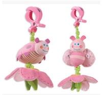 baby mobiles for crib - New Baby Toys Cute Pink Bee Plush Toy Crib Mobile Bed Hanging Toy Rattles Stroller Toy for Months