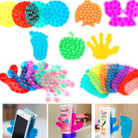 Wholesale cute double side suction magic sucker for bathroom mobile phone sticker stand holder vacuum sucker A63