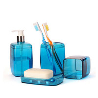 bathroom accessories sets discount - Discount bathroom sets tooth brush holder wash gargle suit creative bathroom accessories plastic banheiro bath set