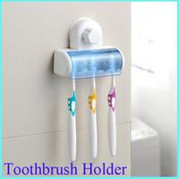 bathroom bins - Home Bathroom Toothbrush SpinBrush Suction Holder Stand Rack Plastic Set Bin