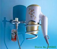aluminum ware - New Fashion Aluminum Household Hair Dryer Shelf Hair Blow Holder Rack Hook Wall Bathroom Hardware Accessories Sanitary Ware