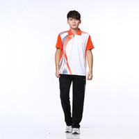 Wholesale New Arrival Badminton Shirt And Short Polyester Adult Unisex Badminton Clothing Sets Couples Men Women Sport Suit
