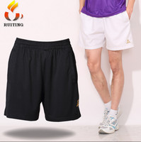 Wholesale New Arrival Men Black White Tennis Shorts Breathable Fitness Fabric Badminton Sports Trouser Self owned Brand Y1236