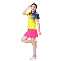 badminton news - News Fashion running Sports Clothing Lady s Tennis Dresses T shirts Badminton clothing women summer sportswear free