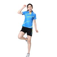 Wholesale RACE WAY New female badminton badminton clothing shirt shorts sports suit casual tennis shirt shorts
