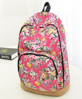 Wholesale New Arrival Floral Printed Canvas Backpack Fashion Girls School Bag Flowers Women rucksack A60
