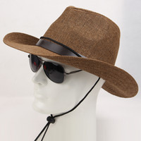 straw hats for women - New Summer and Spring fashion Cowboy Hats for men and women hat straw outdoor caps sun hat size CM