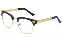 Wholesale Half Frame Brand Glasses Men New Eyeglasses Metal Women Optical Eye Glasses Myopic Frame Glasses Vintage Oculos de grau