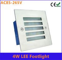 aluminium stairs - Ulter bright W led footlight stair lights Aluminium Square step path lights IP65 Waterproof LED Wall Corner Light lamp