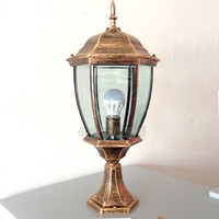 antique paint brush - Small Size Ourdoor Light Waterproof and Stainless Steel Painted Street Light Hexagonal Fixture Antique Lawn Lamp Corridor lamp