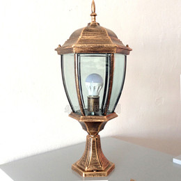 Wholesale Small Size Ourdoor Light Waterproof and Stainless Steel Painted Street Light Hexagonal Fixture Antique Lawn Lamp Corridor lamp