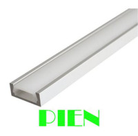Wholesale M ft Shallow Flush Mount Aluminum Channel U Shape LED Aluminum Extrusion for flex hard LED Strip Light by DHL