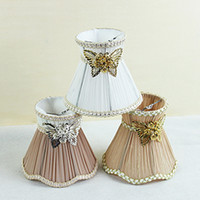 antique glass chandelier shades - Moroccan exotic fabric lamp shades Chandelier Mini luxury Lamp Shade Clip On