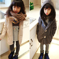 best kids stores - New store opening Best choice amp best discounts winter kids casual fleece hooded coat outerwear with button pocket girl