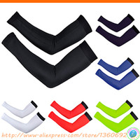 Wholesale New Sunscreen bike cycling cuff Arm Warmers Sleeve Sunscreen Cover UV protection sun protection arm sleeve bicycle B3073XT