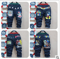 low price jeans - winter cartoon printed thick warm cheap low price child boys jeans pants trousers year old