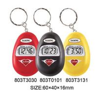 big clock chain - Spanish Language Talking Key Chain Clock Big Voice With Alarm Black Color