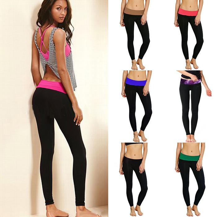 Fitness Leggings Cheap: Wholesale-Womens Yoga GYM Workout Legging Waistband