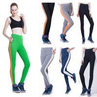 aerobic pilates - Color Fashional High Waist Breathable Spandex Pilates Yoga Leggings Women s Fitness Leggins For Workout Aerobic Sports