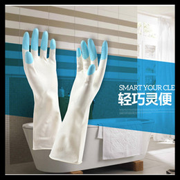 Wholesale Advanced Latex Gloves Thickening Waterproof Laundry Anti hot For Household Kitchen Long Rubber Cleaning Cooking Recycling Gloves