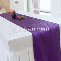 aqua table runners - pieces Aqua Blue Satin Table Runner Wedding Decoration