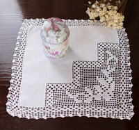 american handkerchief - End of a single American country Crochet mat decoration handkerchief pad pad a vase