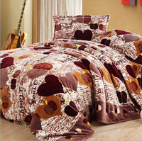 Wholesale High quality luxury thicken flannel quilt cover soft bedding sheet bedspread duvet cover