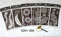 airbrushing supplies - Tattoo Templates hands body arm henna tattoo stencil for airbrushing professional mehndi new Body Painting Kit supplies