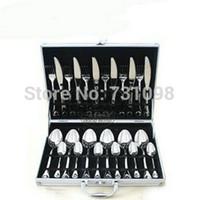 alumnium case - Heart to Heart cutlery design stainless steel flatware set in alumnium case with mirror finishing