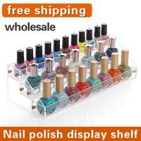 acrylic nail polish display - NEW Fashion acrylic makeup organizer nail polish Nail polish display cosmetic rack plastic storage box