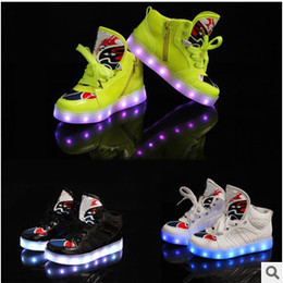 Wholesale Fashion boys girls sneaker luminous children tenis trainer flashing kids led lighting child casual shoes kids boots