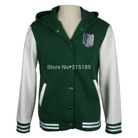 Wholesale shingeki no kyojin attack on titan jacket Scratched Velvet fashion casual hoodies Sweatshirt cosplay anime costume for lovers