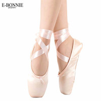 ballet pointe shoes - ON SALE Sansha Satin Canvas Ballet Professional Ballet Pointe Dance Shoes With Ribbons included Child Ballet Toe Practise Shoe