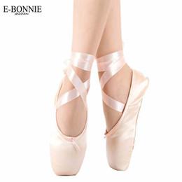 Wholesale ON SALE Sansha Satin Canvas Ballet Professional Ballet Pointe Dance Shoes With Ribbons included Child Ballet Toe Practise Shoe