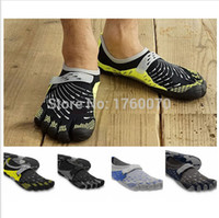 athletic climbing shoes - High Quality Colors Hiking Climbing Shoes Men Barefoot Athletic Flats Five Outdoor Waterproof Sports Shoes Sneakers Fingers