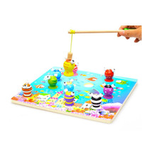 Wholesale New Arrival D Wooden Magnetic Fishing Toy Early Learning And Educational Toys For Baby and kids