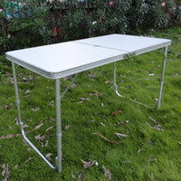 Wholesale Aluminum folding table Suitcase portable outdoor picnic tables and chairs promotional Showcase stall Consulting