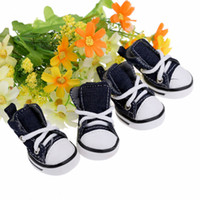 Wholesale Casual Style Denim Canvas Pet Dog Boots Shoes Large Big Small Fashion Breathable Outdoor Sports Sapato Para Cachorro