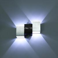 Shadeless art deco bathroom designs - Fashion design wall light Aluminum w white Led bedroom Wall Lamp modern up and down bathroom washroom mirror lighting