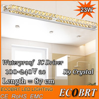 ac baths - Modern LED Crystal Bathroom Mirror Sconces Light W Over Mirror Front Lights Lamp Bath Wall cm Super Long V V AC