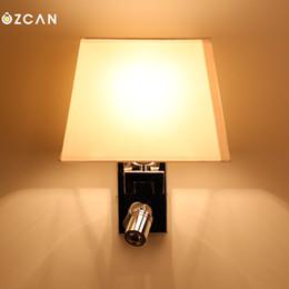 Promotion à double lampe de lecture chambre lampe de mur de gros LED lit double éclairage murs curseur de lecture éclairage principal de la lampe