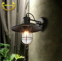 antiques warehouse - Warehouse cage LED wall lamp American country industrial style antique living room bedroom lamps and lanterns is