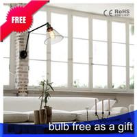 antique clothing shop - Free bulb Vintage Industrial Antique novelty style light clothing shop kitchen study room lobby wall lamp E27 loft style light