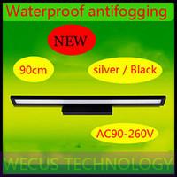 Al por mayor (WECUS) el envío libre, luz del espejo LED breves lámparas a prueba de agua modernas lámpara de pared luces del baño de iluminación, moda, cosmética 90CM