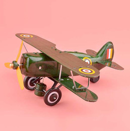 Wholesale Handmade Classic Glider Plane Clockwork Toys Retro Tinplate Toys Wine Bar Decoration