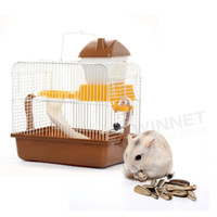 Wholesale Portable Small Animal Hamster Gerbil Mouse House Cage Coffee
